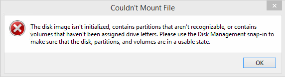 Couldn't mount file